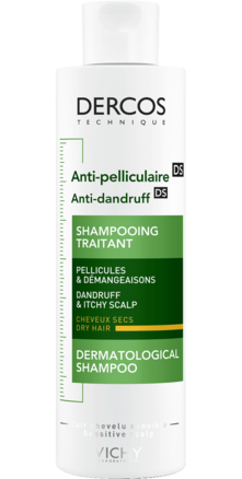 Prohealth Malta Vichy Dercos Anti-Dandruff Shampoo for Dry Hair 200ml