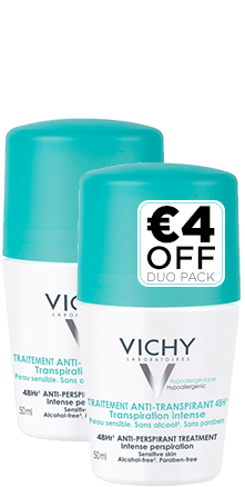 Prohealth Malta Vichy Intensive Anti-Perspirant Roll-On 48Hr - Duo Pack Offer